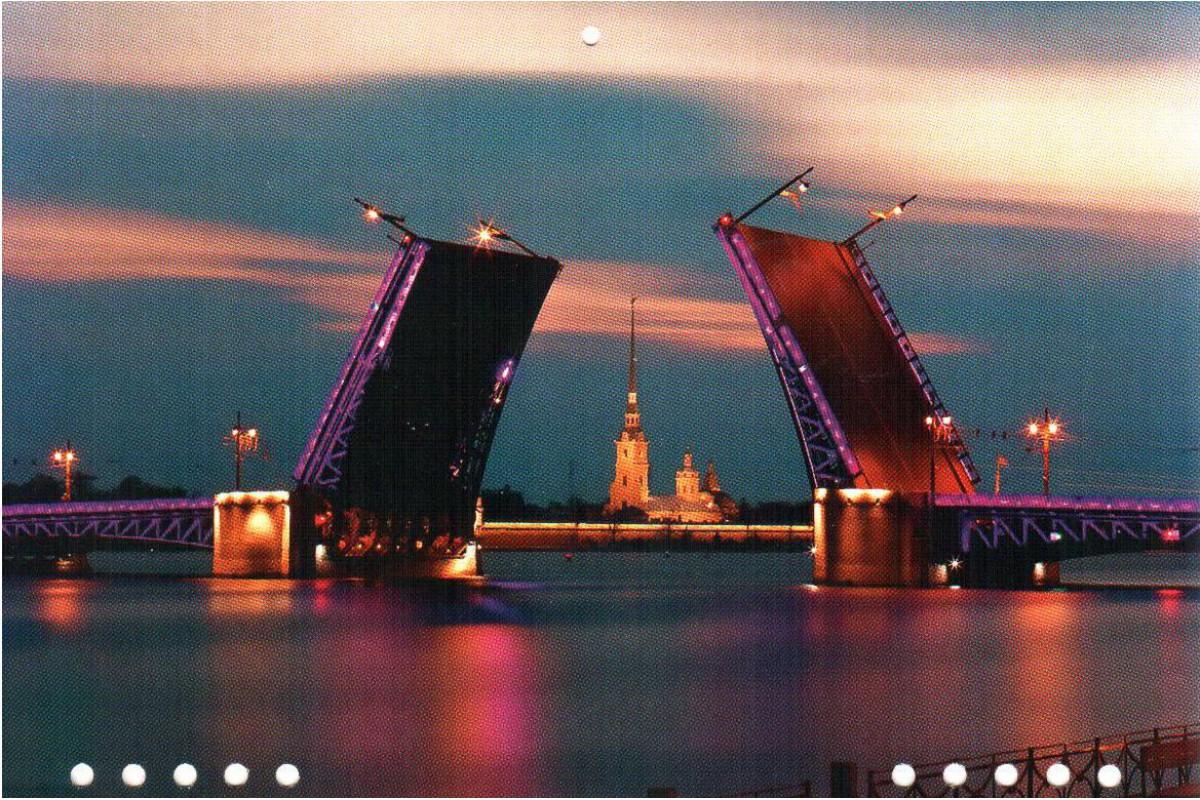 """Календарь мини-трио """"Дворцовый мост. Ночь"""""""